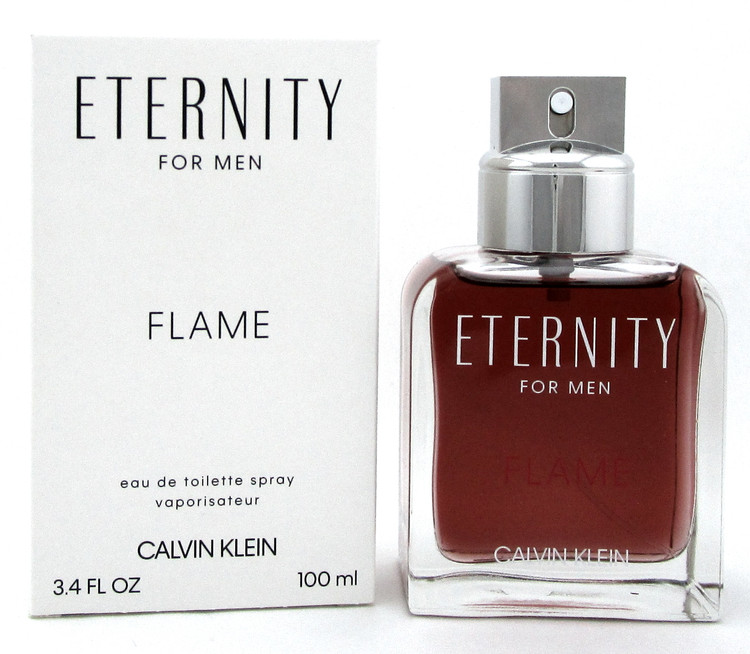 Eternity FLAME Cologne by Calvin Klein 3.4 oz. EDT Spray for Men. New Tester