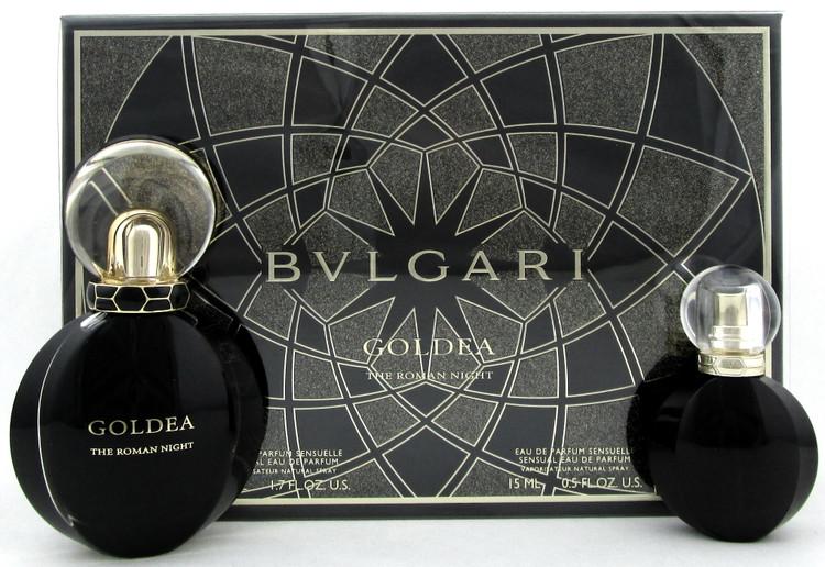 Bvlgari Goldea The ROMAN NIGHT 1.7 oz.+ 15 ml. Eau de Parfum Sensuelle Spray.SET