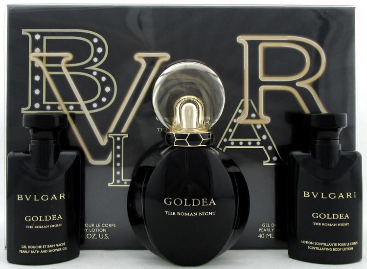 Bvlgari Goldea The ROMAN NIGHT 1.7oz EDP Sensuelle Spray + 1.35oz B/Lot & S/Gel