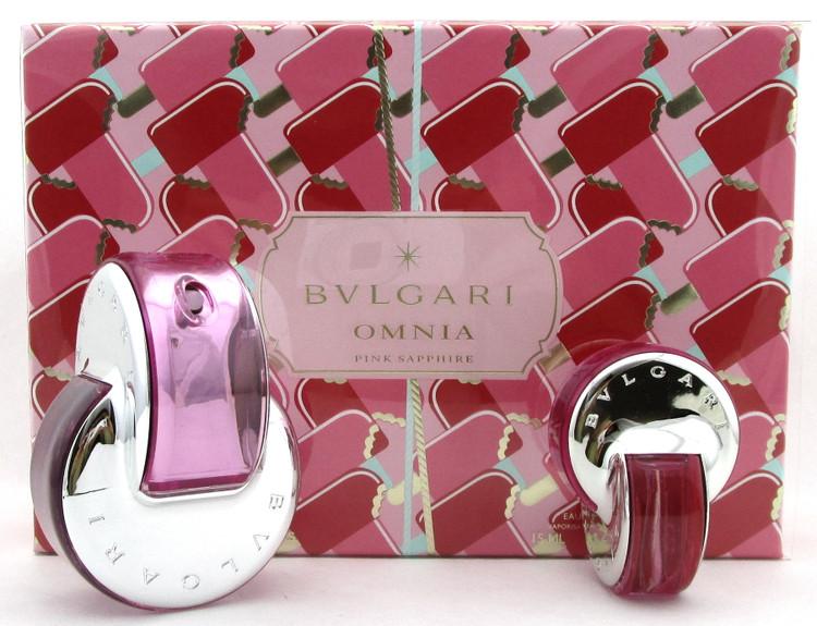 Bvlgari Omnia Pink Sapphire 2.2 oz. & 15 ml. Eau de Toilette Spray. Women's SET