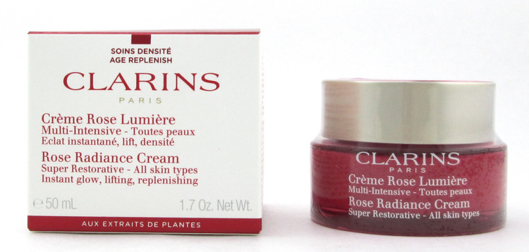 Clarins Super Restorative Rose Radiance Cream All Skin Types 1.7 oz./ 50 ml. New