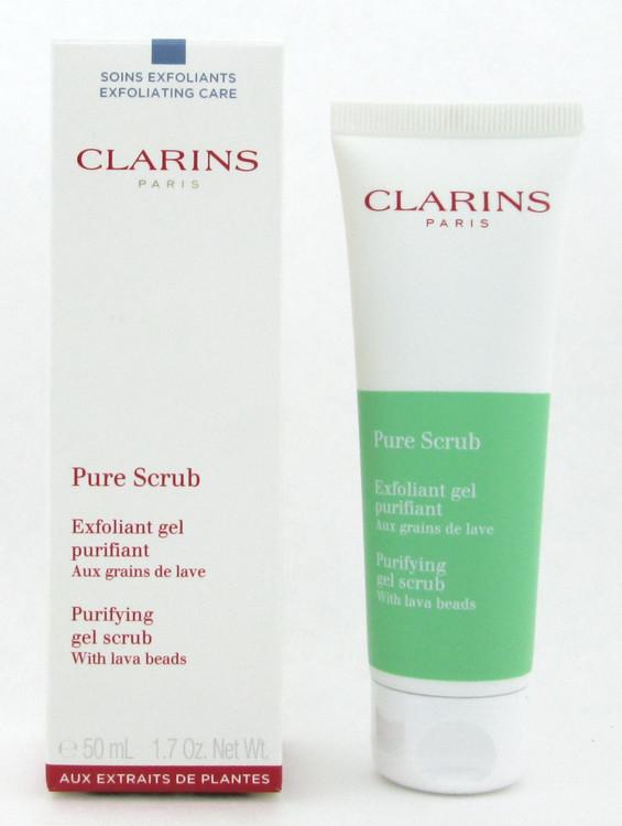 Clarins Pure Scrub Purifying Gel Scrub with lava beads 50 ml./ 1.7 oz. New