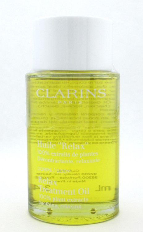 Clarins Relax Body Treatment Oil 100% Pure Plant Extract 3.4 oz. New Tester