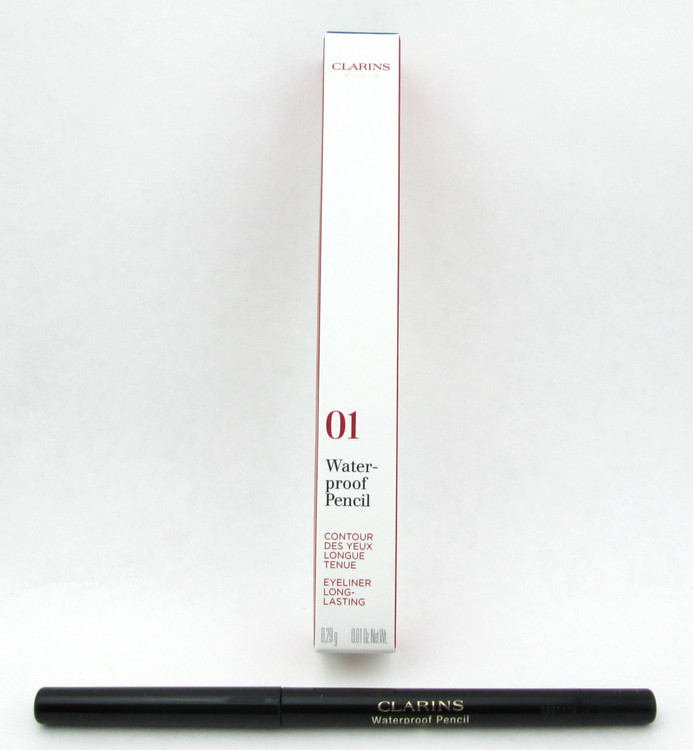 Clarins Waterproof Eye Pencil Black Tulip 01 Long Lasting 0.1 oz. Brand New