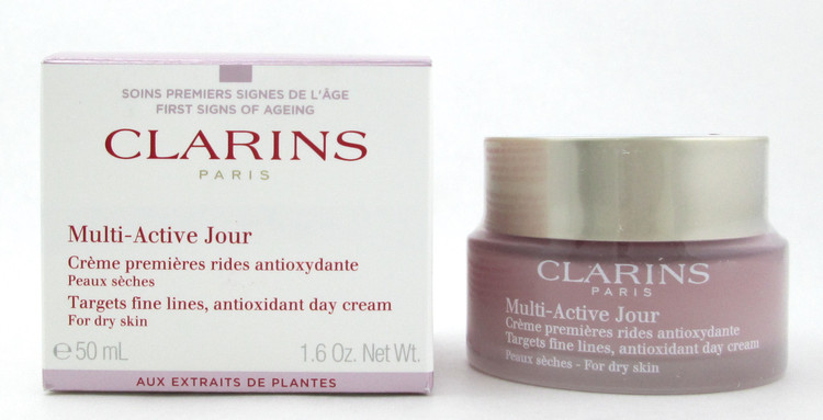 Clarins Multi Active Jour Antioxidant Day Cream for Dry Skin 50 ml./ 1.6 oz. New