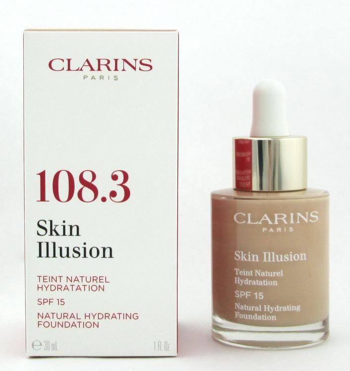 Clarins Skin Illusion Natural Hydrating Foundation SPF 15  #108.3 Organza 1 oz.