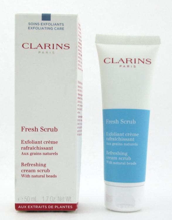 Clarins Fresh Scrub Refreshing Scrub Cream with natural beads 50 ml./ 1.7 oz. Damaged Box