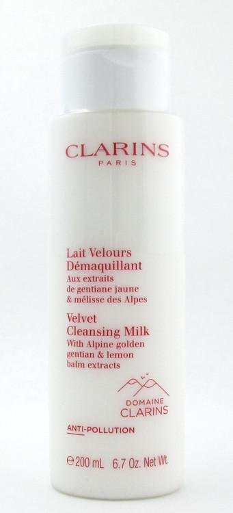 Clarins Velvet Cleansing Milk with Alpine Golden Gentian & Lemon Balm 200 ml./ 6.7 oz. New Sealed