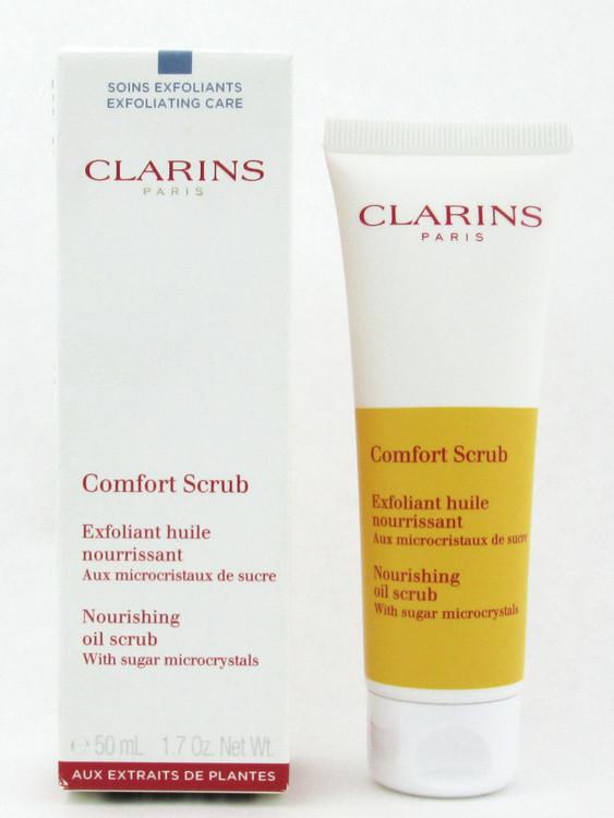 Clarins Comfort Scrub Nourishing Oil Scrub with sugar microcrystals 50 ml./ 1.7 oz. Damaged Box