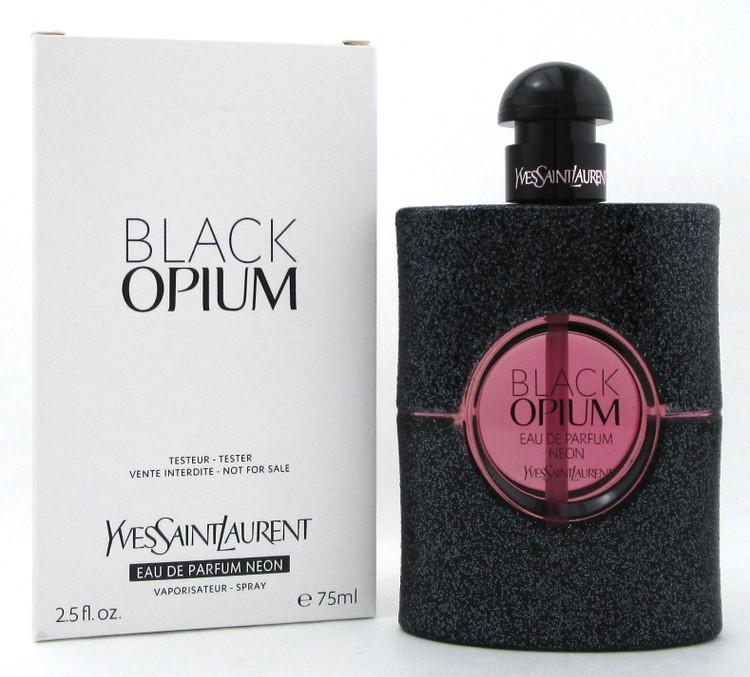 Black Opium by YSL 2.5 oz. Eau de Parfum NEON Spray for Women. New Tester