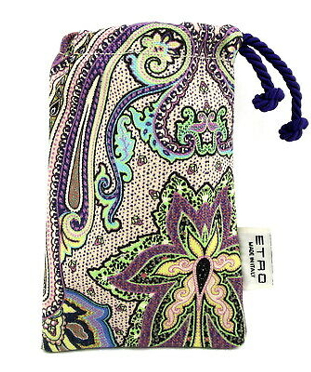ETRO Cosmetic Make Up Fabric Pouch Made in Italy