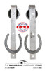 Steel Wheel Horse Shoe Sliding Barn Door Hardware Kit  - $99 SALE - BDHS EXCLUSIVE!