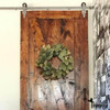 hinge style barn door hardware hangers installed