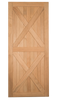 Double X-brace Barn Door - shown here in optional American Cherry - call to order - adds $150 to price
