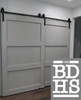 3 panel doors - extra wide for our Single Track BYpass System