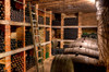 Rolling Library Ladder in a wine cellar