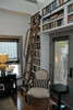Classic Rolling Library Ladder in home library or study
