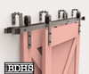 Double Track Bypass Kit with 72'' Track  - 2 Track Sliding Barn Door Hardware Kit   ****DOORS NOT INCLUDED