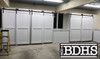 3 sets of Single Track Double Door By-passing  system for bypassing doors in a garage
