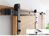 Bi-Parting Double Sliding Barn Door Hardware Kit