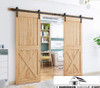 Bi Parting Double Sliding Barn Door Hardware Kit