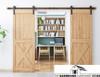 DOUBLE DOOR Bi-Parting Barn Door Hardware Kit - SALE! - Bi-Part Hardware for 2 doors - Black Powdercoated Kit with Quiet Nylon Wheels  - FREE SHIPPING!