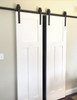 Ajar double Barn Door Hardware