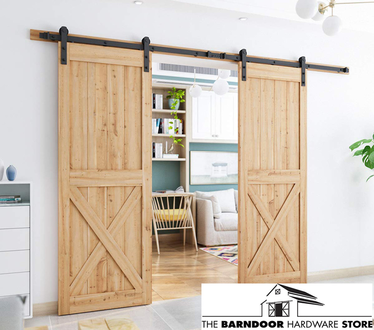 Double Sliding Barn Door Hardware Kit - The Barn Door ...