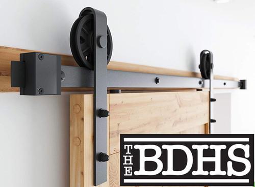"6"" Jumbo Nylon Wheel Sliding Barn Door Hardware Kit"