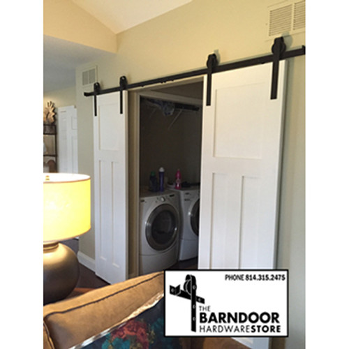 Double Sliding Barn Door Hardware Kit