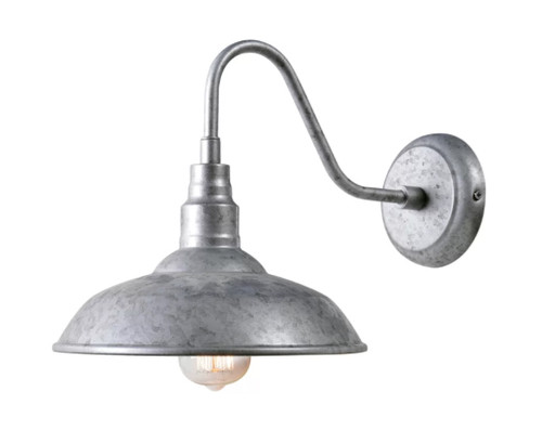 "galvanized farmhouse 10"" barn light"