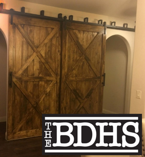 Double Track Bypass Installation Double Track Bypass  - 2 Track Sliding Barn Door Hardware Kit   ****DOORS NOT INCLUDED