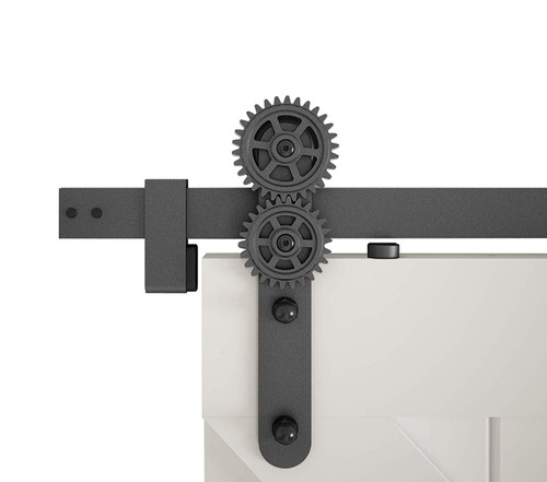 "Hi Tech Gears Sliding Barn Door Hardware Kit with 72"" Track"