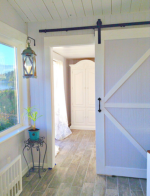 Sliding Barn Door Hardware -shown in black