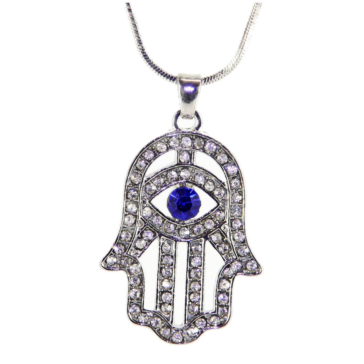 Pink Evil Eye Necklace LUCKY Charm Amulet Pendant Jewelry Judaica Kabbalah