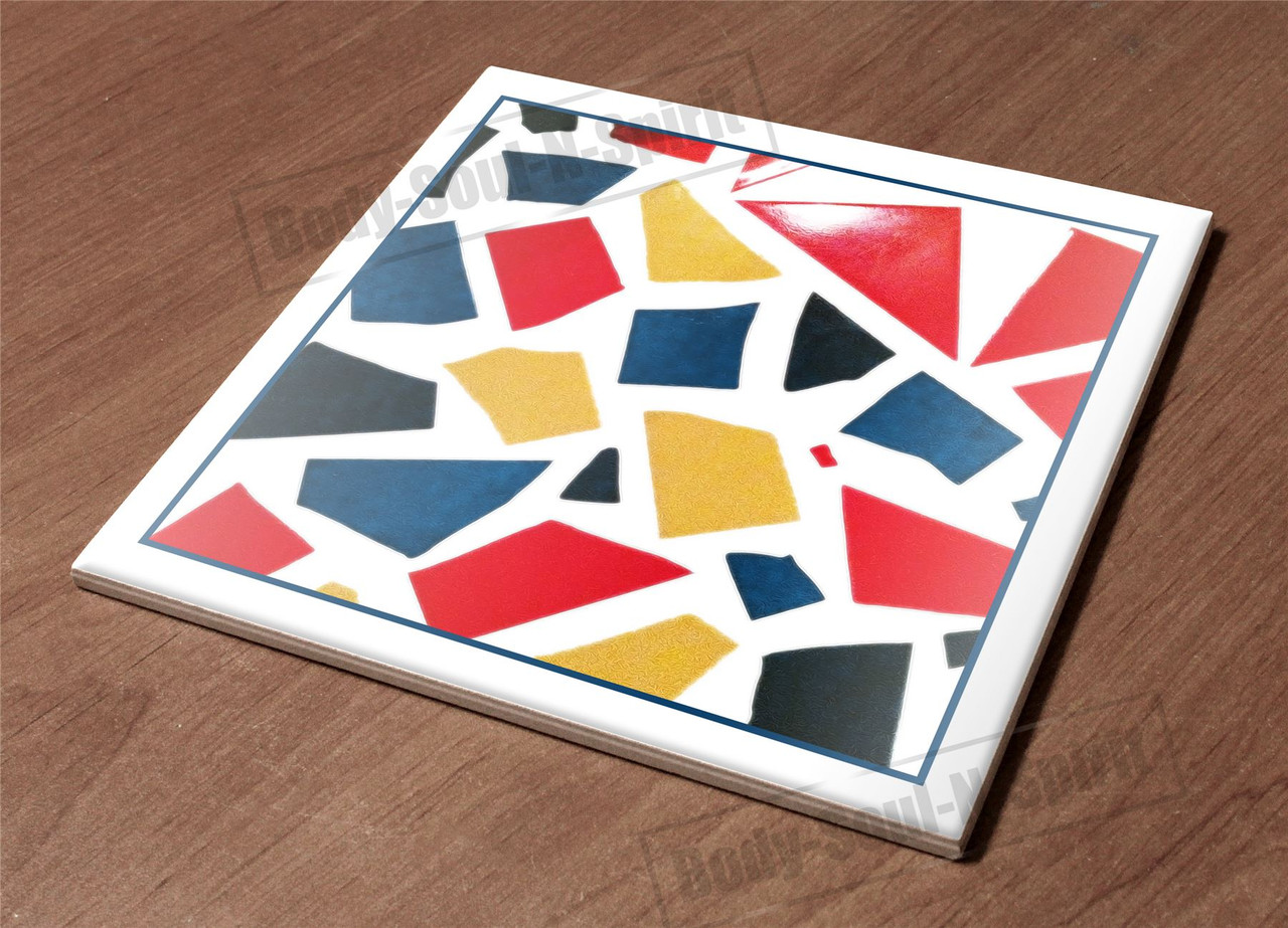 Hotplate Kitchen Trivet Holder Ceramic Tile Pieces Art D Cor Design Cloroful