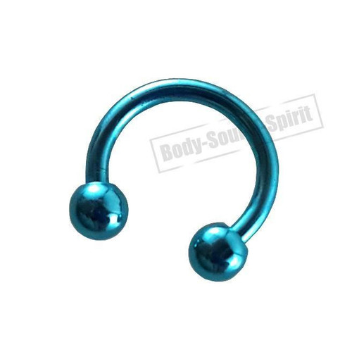 Circular Sky Horseshoe 7mm  EAR EYE Lip Barbell round Ring NIPPLE Jewelry