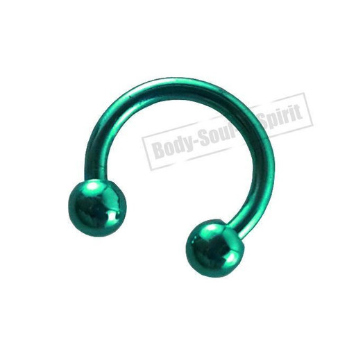Circular Turquoise Horseshoe 7mm  EAR EYE Lip Barbell round Ring NIPPLE Jewelry