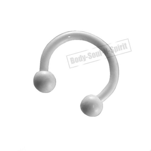 Circular White Horseshoe 7mm  EAR EYE Lip Barbell round Ring NIPPLE Jewelry