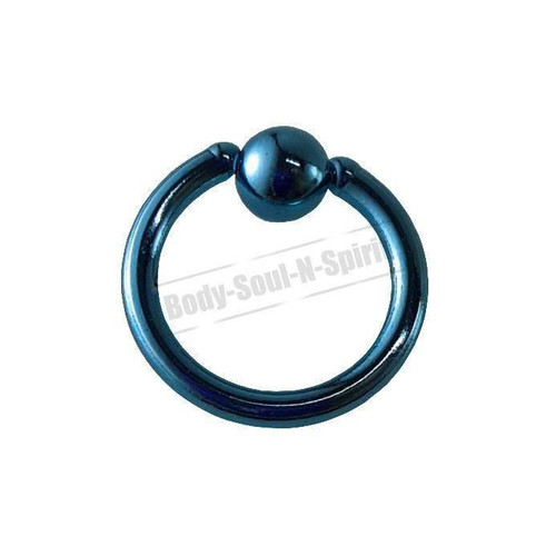 Sky Hoop 8mm BSR Body Piercing Ball Nose Ring Lip Cartilage Ear 316L Steel