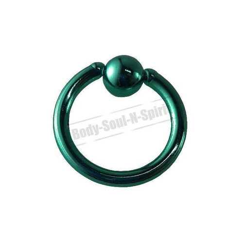 Turquoise Hoop 8mm BSR Body Piercing Ball Nose Ring Lip Cartilage Ear 316L Steel