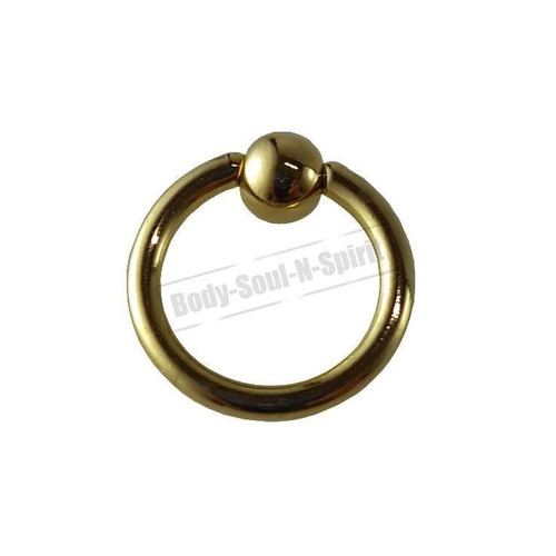 Gold Hoop 7mm BSR Body Piercing Ball Nose Ring Lip Cartilage Ear 316L Steel