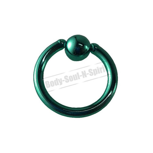 Turquoise Hoop 6mm BSR Body Piercing Ball Nose Ring Lip Cartilage Ear 316L Steel