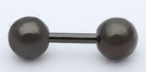 BODY PIERCING Black balls barbell nipple TONGUE BARS RINGS JEWELRY