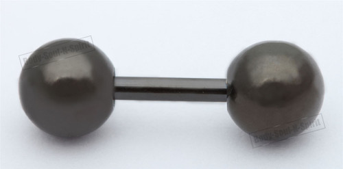BODY PIERCING Black balls barbell nipple TONGUE BARS RINGS JEWELRY