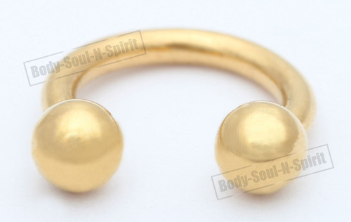 Lip round Barbell Circular Gold color Horseshoe EAR EYE Ring NIPPLE Omega Jewelry