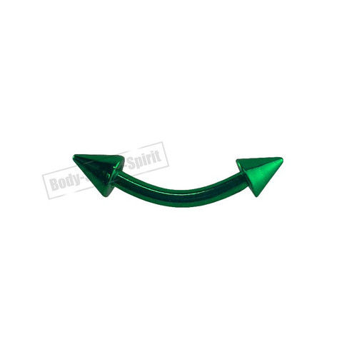 Eyebrow type 1 - Piercings Rings Green CURVE Body Jewellery 316L Surgical Steel