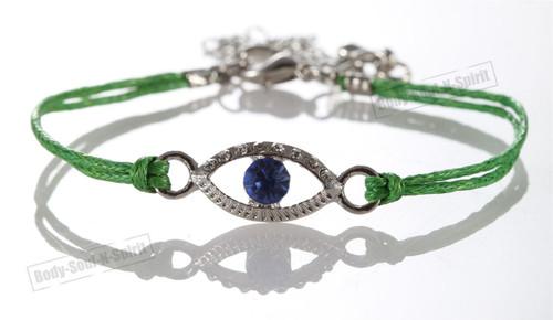 1 Green Evil Eye woman Bracelets STRING Kabbalah Lucky Charm Spiritual Jewelry