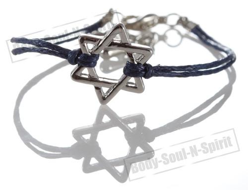 1 Blue Star Magen David Bracelets STRING Kabbalah Judaica Charm Israel Jewelry
