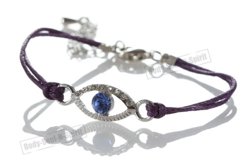 1 Purple Evil Eye woman Bracelets STRING Kabbalah Inspired Lucky Charm Jewelry